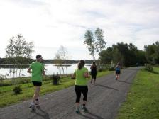 Runners enjoying the TC Trail