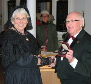 Shirley Brinkhurst was a winner of a Colchester Heritage Award for her many heritage projects at the Creamery Square Heritage Centre. Bill Canning, presenter