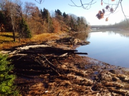 What's left of Campbell's Shipyard on French River- Courtesy of Kevin Aitchison.